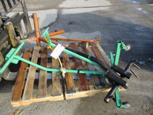 LOT OF PAIR OF 3 WHEEL STANDS