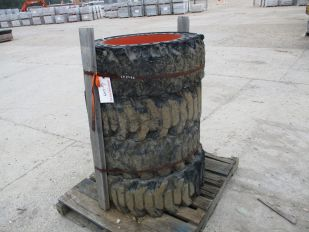 SKID OF 4 - BOBCAT TIRES SIZE 12-16.5