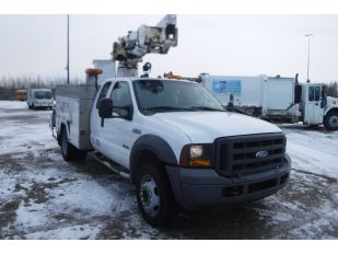 2005 FORD F550SD QDCB DW BUCKET TRUCK