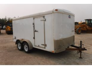2014 UNITED 14' T/A ENCLOSED OIL LUBE TRAILER