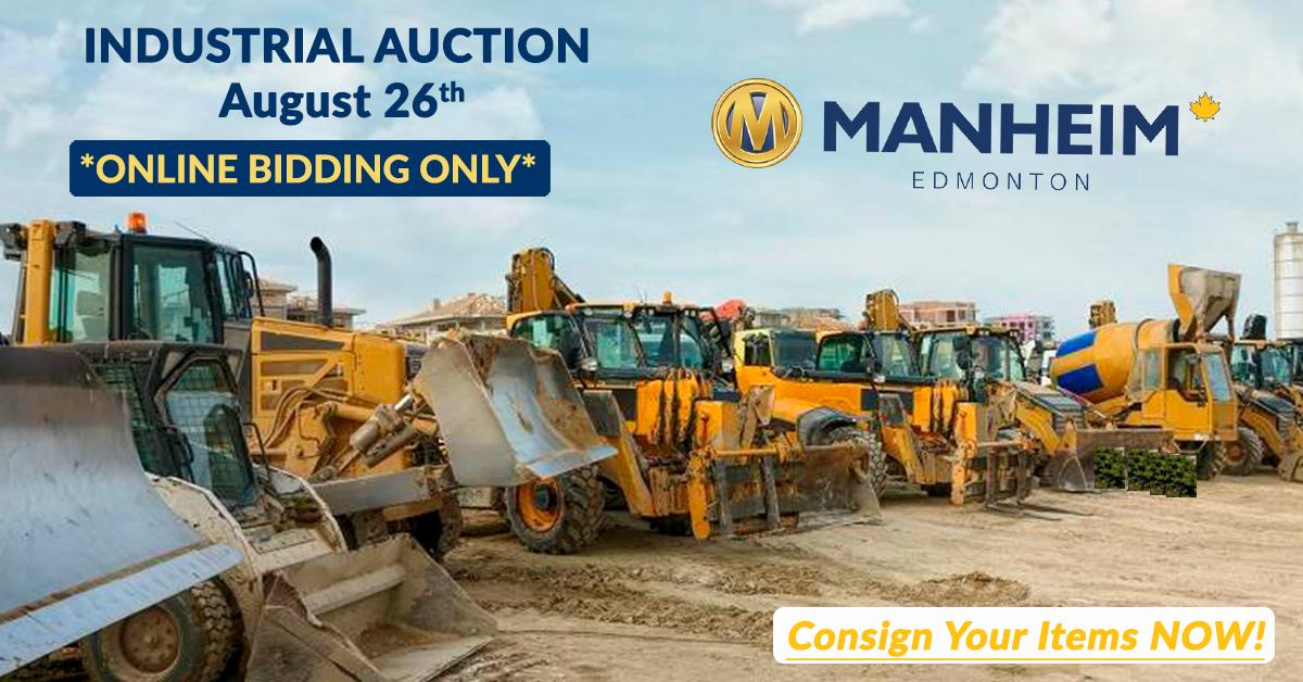 Manheim Edmonton Industrial Equipment Sale