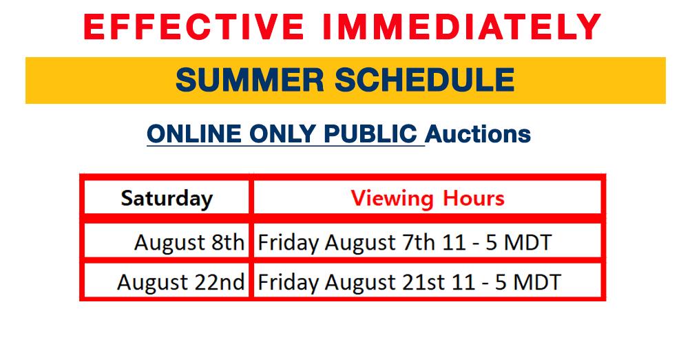 Manheim Edmonton Summer Schedule